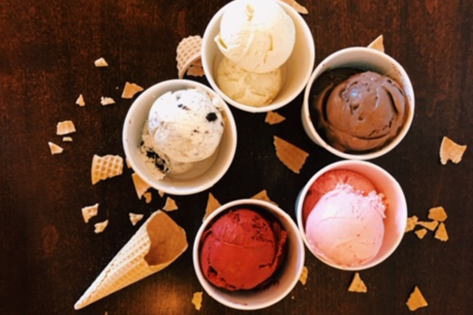 Enjoy our variety of flavors at 4 Cows