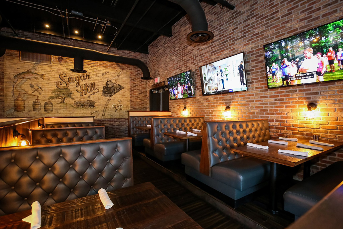 Comfortable Dining with Screens and Outdoor Seating | Central City Tavern | Exchange @ Gwinnett